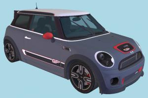 MINI John Cooper Mini-Cooper, MiniCooper, mini-car, car, vehicle, transport, carriage