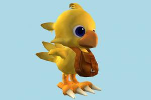 Chocobo chick, hen, chicken, poultry, rooster, teddy, bird, air-creature, animal, animals, cartoon