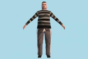 Fat Man fat, man, male, people, human, character, lowpoly