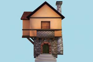 House house, home, building, medieval, build, apartment, flat, residence, domicile, structure, halloween