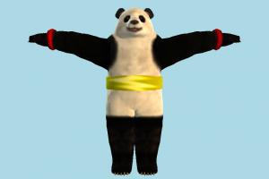 Panda panda, animal-character, tekken, bear, character, animal, animals, cartoon