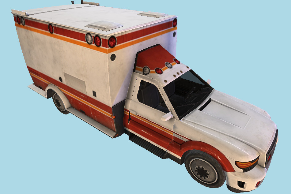Ambulance Vehicle 3d model
