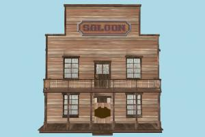 House saloon, house, home, building, build, residence, domicile, structure