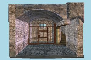 Dungeon dungeon, cave, castle, room, house, building, build, structure