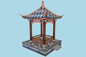 Pavilion pavilion, tent, chinese, summer, small, house, build, structure