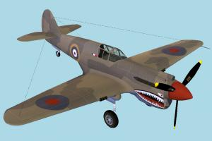 Military Plane warplane, military-plane, aircraft, airplane, plane, shark, fighter, combat, military, craft, air, vessel, cartoon
