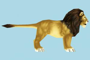 Lion lion, animal, animals, cartoon, lowpoly