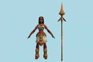 Nidalee Woman woman, girl, female, people, human, character, jungle, indian, queen, fantasy
