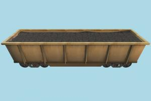 Ore Trailer train, boxcar, coach, wagon, ore, railway, railroad, rail, carriage, truck, vehicle