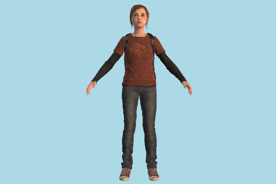 The Last Of Us 2 - TLOU2 Ellie Girl 3d model
