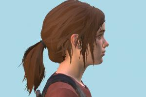 TLOU2 Ellie 3d model