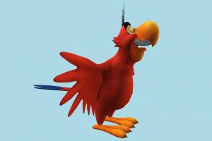 Iago parrot, bird, cartoon, toony