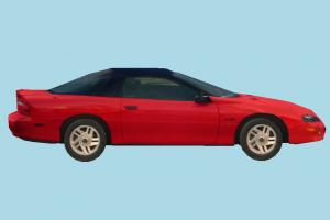 Car Red Low-poly car, vehicle, sportive, truck, transport, carriage, red, low-poly