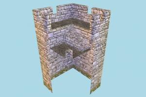 Wall Corner wall, stronghold, castle, tower, building, build, structure