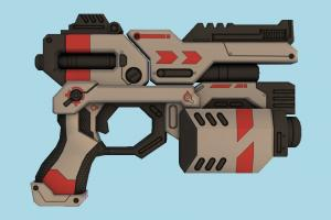 SciFi Gun scifi, auto-gun, handgun, weapon, gun, firearm, arm
