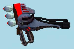 Judicator auto-gun, handgun, weapon, gun, firearm, arm