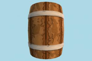 Medieval Barrel barrel, crate, crates, box, object