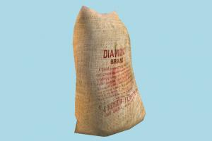 Sack of Flour flour, bag, commercial, food, foods, product