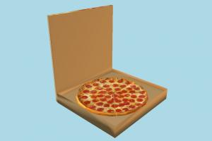 Pizza in Box pizza-box, pizza, box, food, foods, delivery, lowpoly
