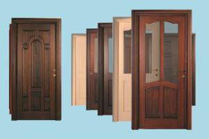 Doors door, doors, wooden-door, wooden, collection, pack, lowpoly