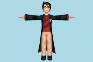 Harry Potter harry-potter, harry, student, potter, teenager, people, human, character, male, man, kid, child, boy, lowpoly