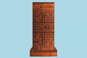 Skyscraper skyscraper, city, building, tower, build, domicile, lowpoly, structure