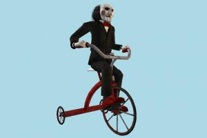 Billy Bike clown, tricycle, buffoonery, riding, bicycle, bike, motorcycle, cycle, play, fun, man