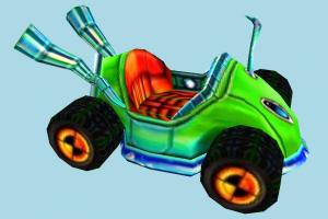 Crash Nitro Kart Crash-Nitro-Kart, cartoon, vehicle, car, carriage