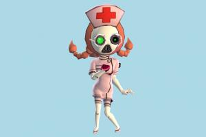 Nurse Bianky nurse, doctor, health, hospital, girl, female, woman, people, human, character, cartoon