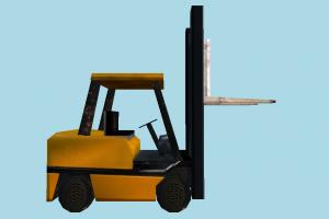 Forklift Very Low-poly forklift, fork-lift, fork-truck, construction, truck, vehicle, carriage, wagon, low-poly