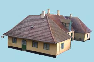 House house, home, building, build, apartment, flat, residence, domicile, structure, lowpoly