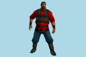 Character male, man, people, human, character, cartoon, lowpoly