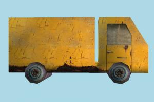 Truck Very Low-poly truck, vehicle, car, carriage, wagon, low-poly