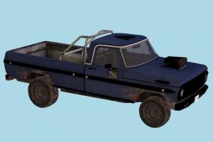 Pickup Car car, pickup, multi-covers, vehicle, transport, carriage