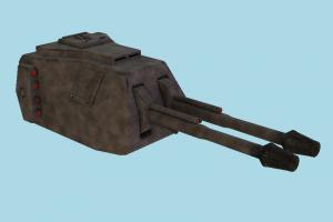 Gun Turret heavy-gun, auto-gun, weapon, gun, firearm, arm