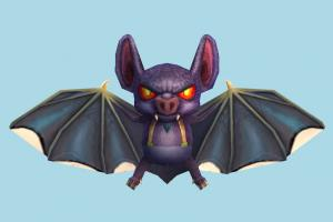 Scary Bat bat, scary, horror, halloween, monster, evil, cartoon, animal, lowpoly