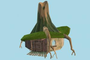 Shreks House house, tree, jungle, woods, wood, home, land, cartoon