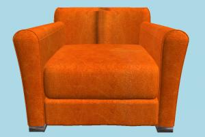 Armchair sofa, couch, settee, divan, seat, chair, couch, furniture