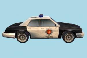 Police Car police-car, police, car, emergency, vehicle, truck, carriage, low-poly,