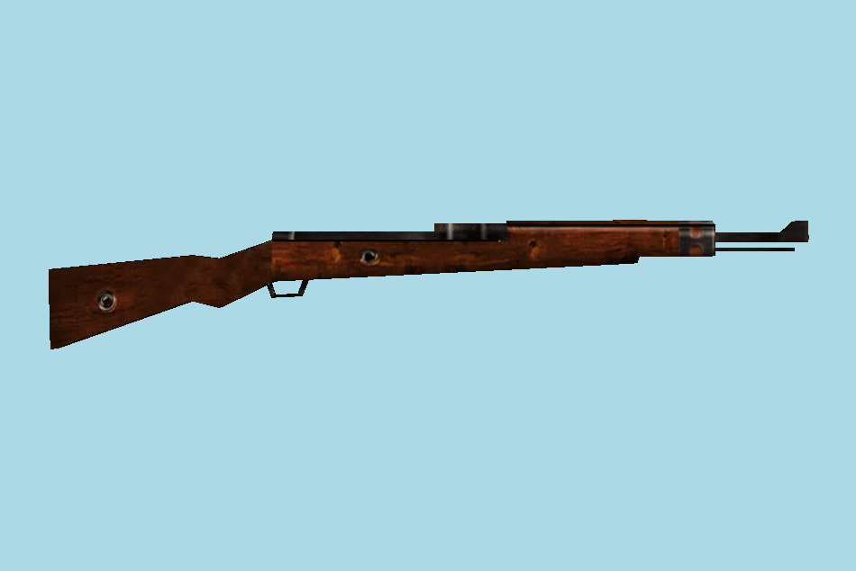 WWII Weapons M98 Rifle 3d model