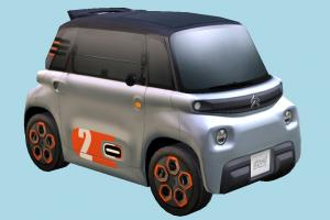 Citroen Car citroen, car, vehicle, french, european, urban, 2020, electric, lowpoly, technology, carriage, transport