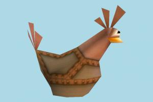 Chicken chicken, hen, rooster, bird, cartoon, logo, lowpoly