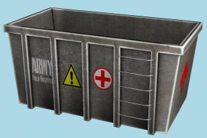 Container container, garbage, trash, can, box, object