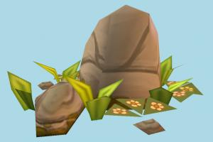 Rocks rock, rocks, ruin, ruins, grass, farm, country, lowpoly