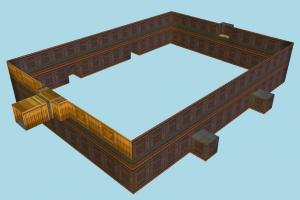 Room room, wall, fence, castle, build, structure