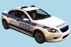 Police Car NYPD, police-car, police, car, ford, emergency, vehicle, transport, carriage