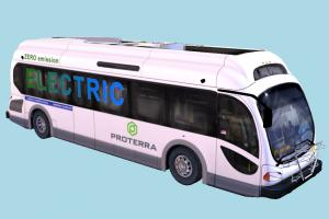 Electric Bus bus, tourist, tourliner, battery-bus, ecoliner, proterra, ecoride, electric, vehicle, truck, carriage, metro, transit