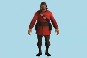 Guard Soldier army-man, army, soldier, man, people, human, character, cartoon