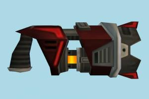 Gun auto-gun, handgun, weapon, gun, firearm, arm, lowpoly