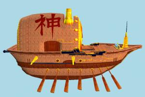 Pirate Ship galleon, pirate-ship, boat, sailboat, pirate, ship, chinese, watercraft, vessel, wooden, maritime